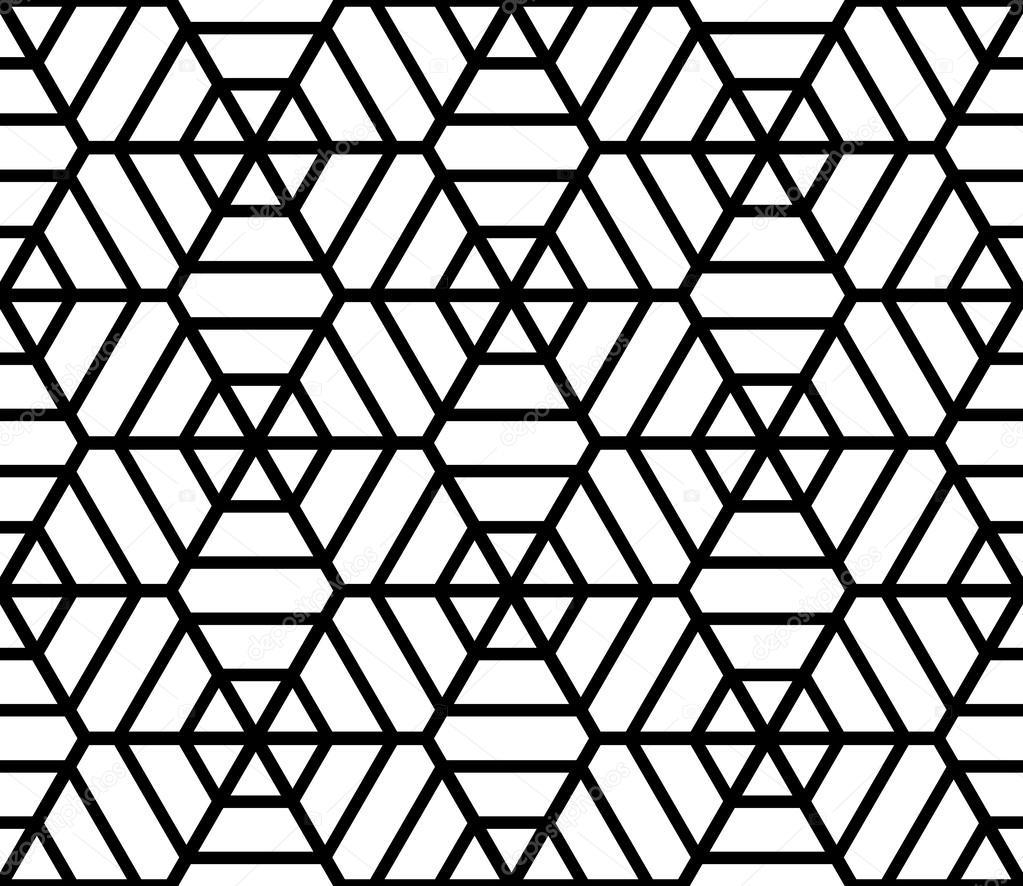 Hexagons latticed texture seamless geometric pattern for Object pool design pattern