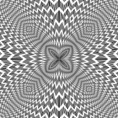 Abstract backdrop with optical illusion effect. Vector art. — Stockvektor