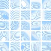 Abstract blue striped backdrops set.  — Stock Vector