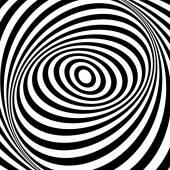 Illusion of whirl movement illusion. Op art design.  — Stock Vector
