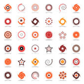 Stars and rotation. Design elements in warm colors.  — Stock Vector