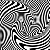 Torsion movement. Op art abstract illustration. — Stock Vector
