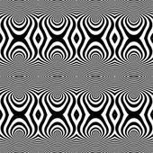 Seamless op art pattern. — Stock Vector