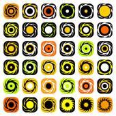 Design elements set. Whirl movement. — Stock Vector