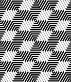 Hexagons and diamonds pattern. Seamless geometric texture.  — Stock Vector