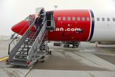Plane unboarding — Stock Photo