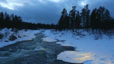 Winter River — Stock Video
