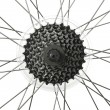 Bicycle wheel as background — Stock Photo #75832683