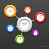 Colorful molecule design template — Stock Vector