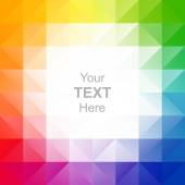 Colorful triangles background — Stock Vector