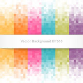 Abstract pixel background with white banner — Stock Vector