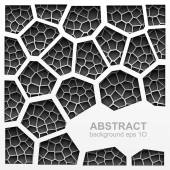 Abstract grayscale geometric pattern — Stock Vector