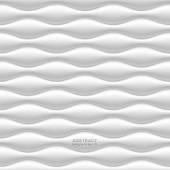 White seamless wavy background — Stock Vector