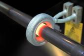 Heating of steel  — Stock Photo