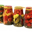 Pickled vegetables in banks — Stock Photo #56407635