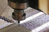 Close up of CNC machine at work — Stock Photo