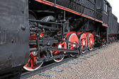 The wheels of an old steam engine  — 图库照片