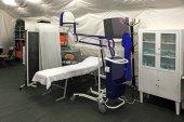 Field hospital tent — Stock Photo