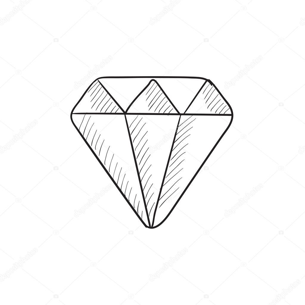 icono de esbozo de diamante � vector de stock 169 rastudio