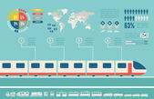Transportation Infographic Template. — Vecteur