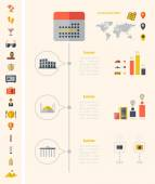 Travel Infographic Template. — Vector de stock