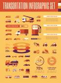 Transportation Infographic Template. — Stock vektor