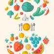 Healthy Food Infographic Template. — Stock vektor #55527969