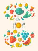 Healthy Food Infographic Template. — Stockvektor