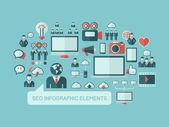 Social Media Infographic Template. — Vector de stock