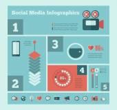 Social Media Infographic Template. — Stock vektor