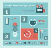 Social Media Infographic Template. — Stockvektor