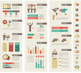 Social Media Infographic Template. — Vettoriale Stock