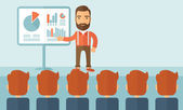 Business presentation. — Stock Vector