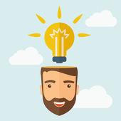New bright idea — Stock Vector