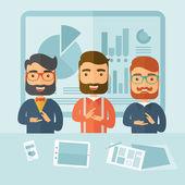 Business presentation — Stock Vector