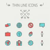 Technology thin line icon set — Stock Vector