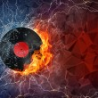 Phonograph record in fire and water — Stock Photo #70695201