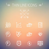 Business thin line icons. — Stock Vector