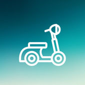 Scooter thin line icon — Stock Vector
