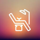 Dental chair thin line icon — Stock Vector