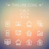 Real Estate thin line icon set — Stock Vector