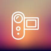 Digital Video Camera thin line icon — Stock Vector