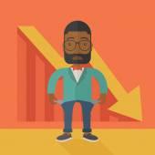 African businessman failed. — Stock Vector