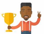 Successful african businessman. — Stock Vector