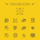 Business thin line icon set — Stock Vector