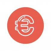 Euro symbol thin line icon — Vector de stock