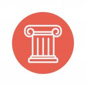 Ancient wall thin line icon — Stock Vector