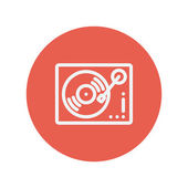 Phonograph turntable thin line icon — Stock Vector