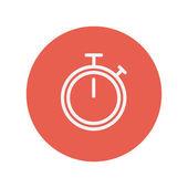 時計細い線アイコンを停止します。 — ストックベクタ