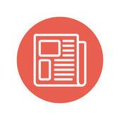 Newspaper thin line icon — Stock Vector